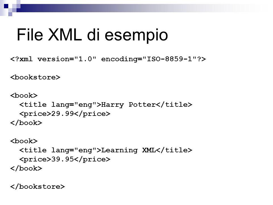 File XML di esempio