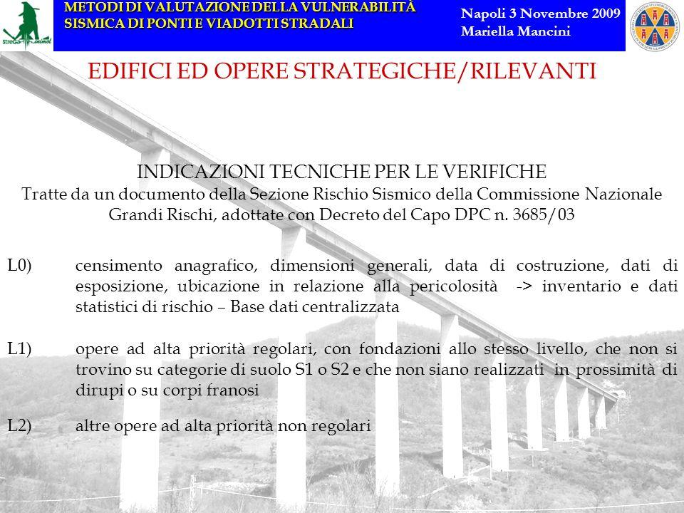 EDIFICI ED OPERE STRATEGICHE/RILEVANTI