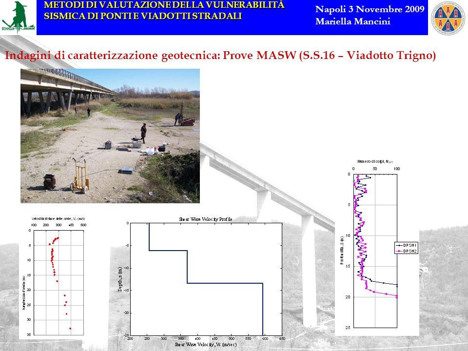 Indagini di caratterizzazione geotecnica: Prove MASW (S. S