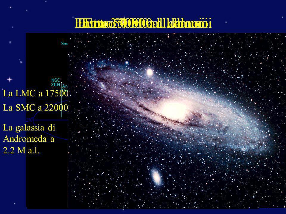 Entro 350000 a.l. da noi Entro 4 M.a.l. da noi Entro 50000 a.l. da noi