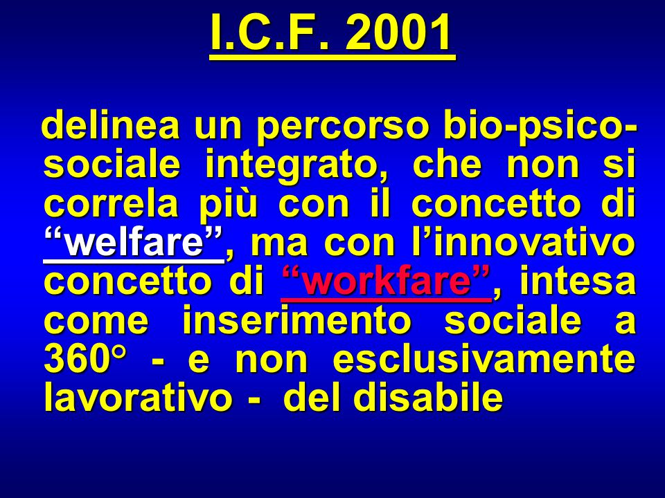 I.C.F. 2001