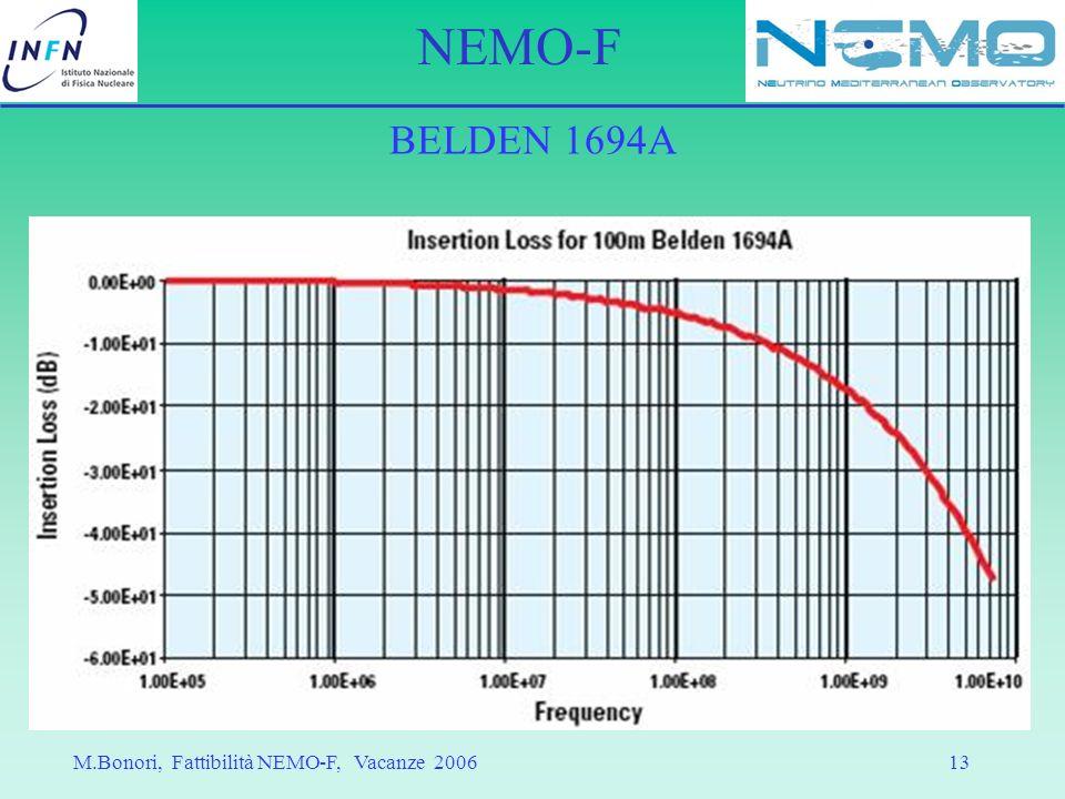 BELDEN 1694A M.Bonori, Fattibilità NEMO-F, Vacanze 2006