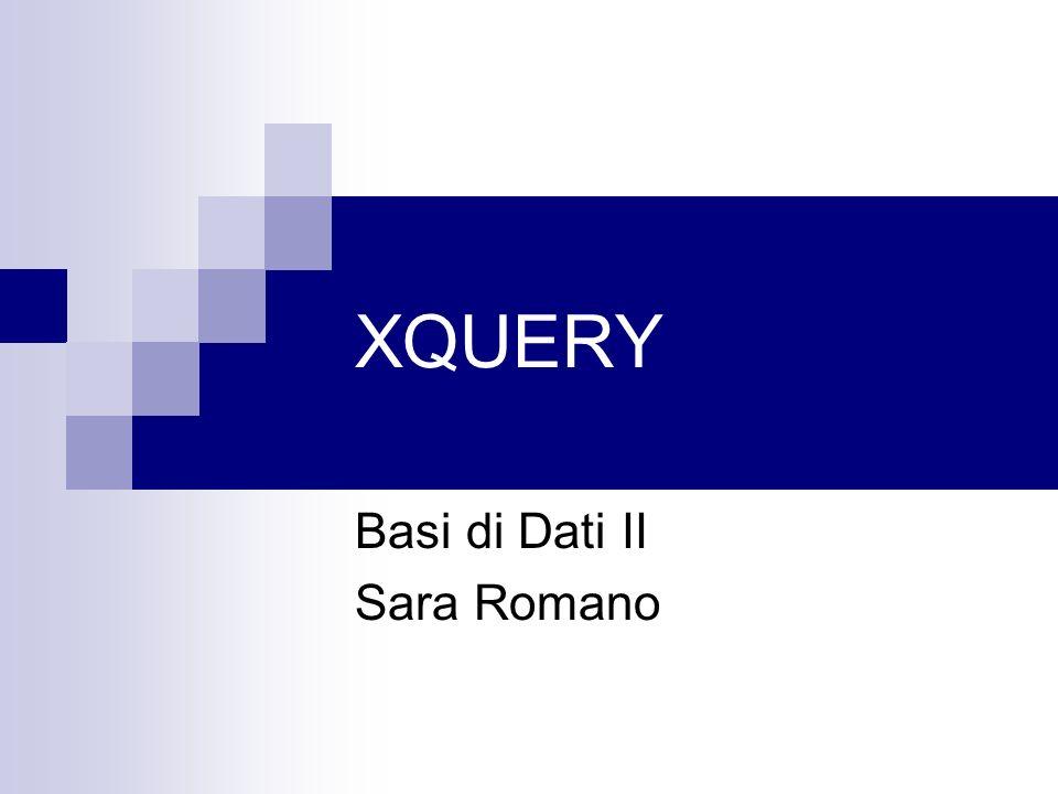 Basi di Dati II Sara Romano