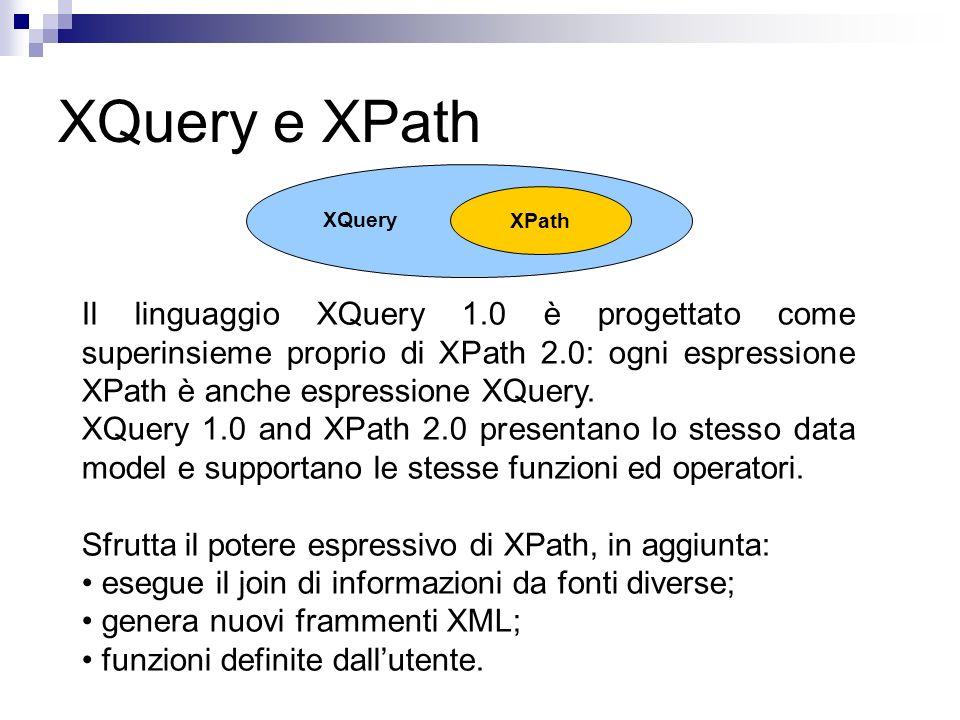 XQuery e XPath XPath. XQuery.