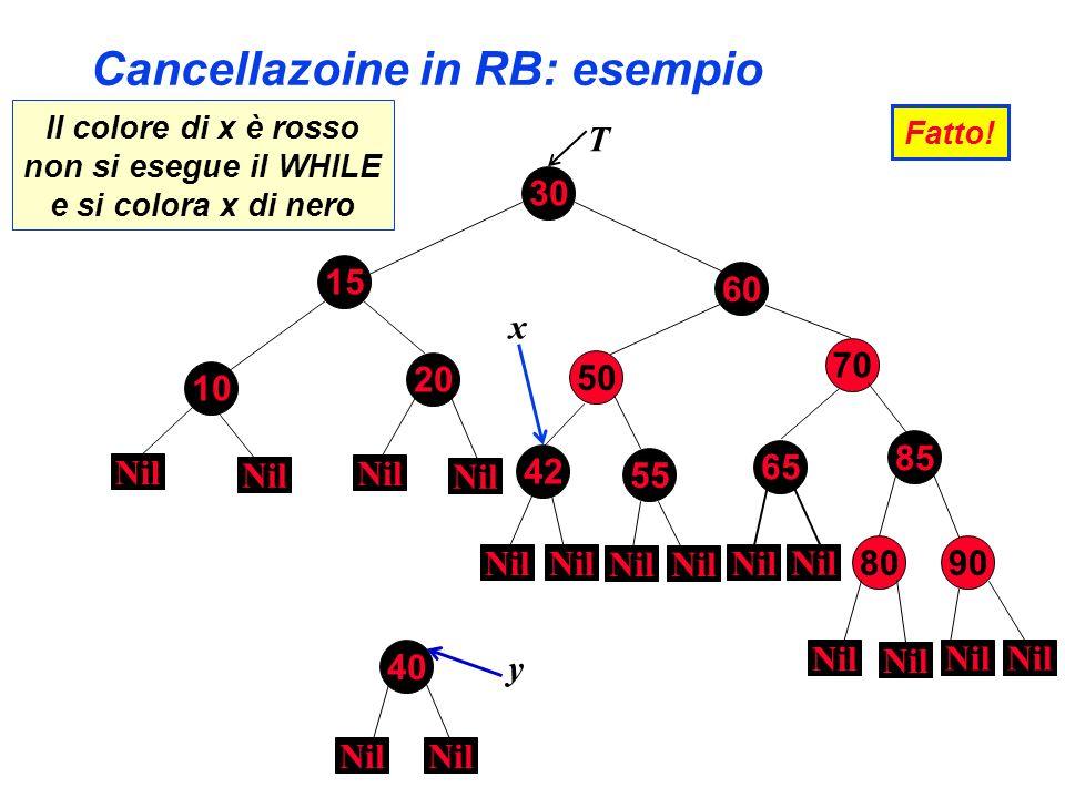 Cancellazoine in RB: esempio