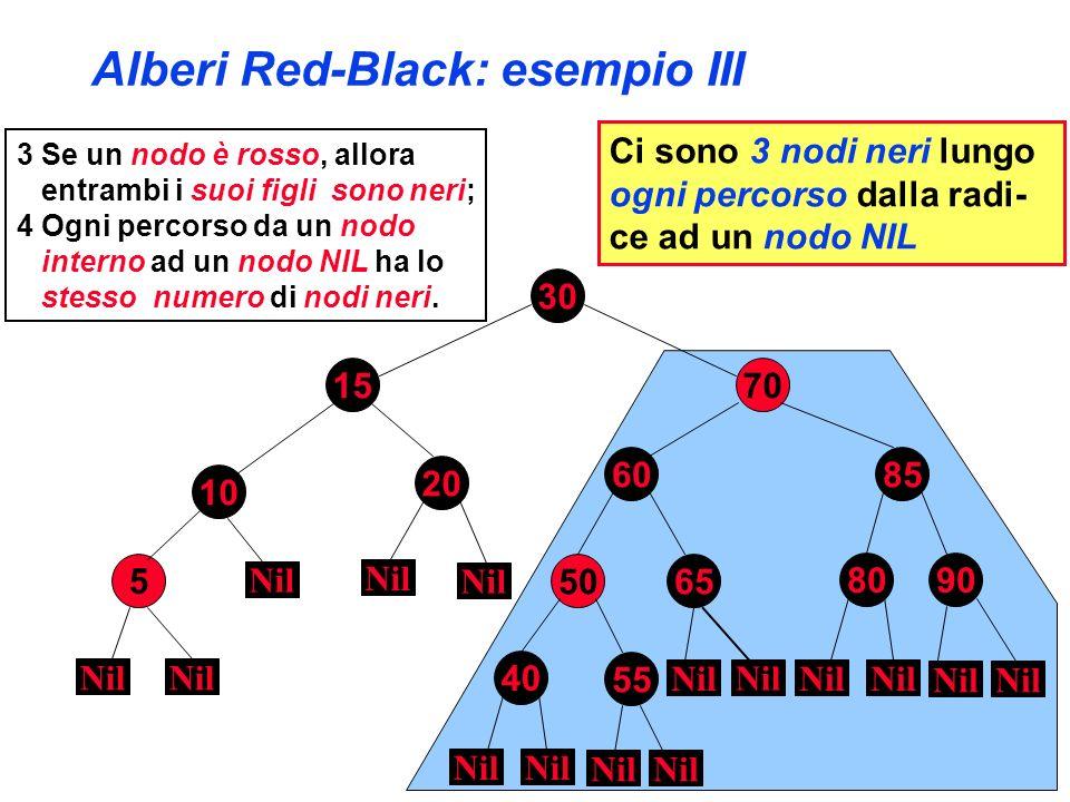 Alberi Red-Black: esempio III