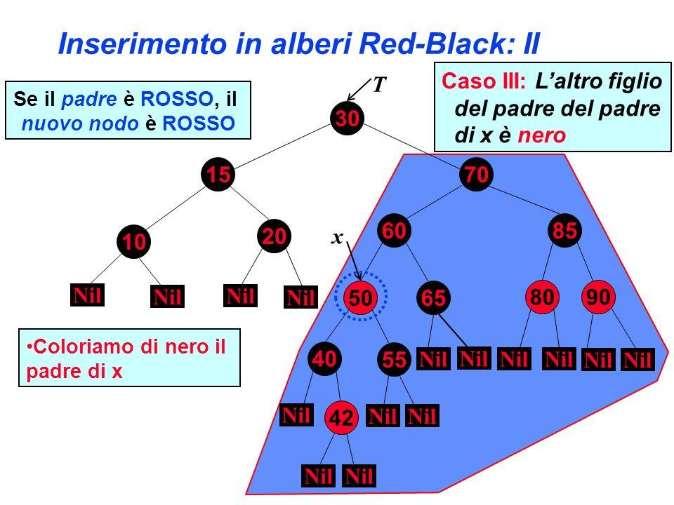 Inserimento in alberi Red-Black: II