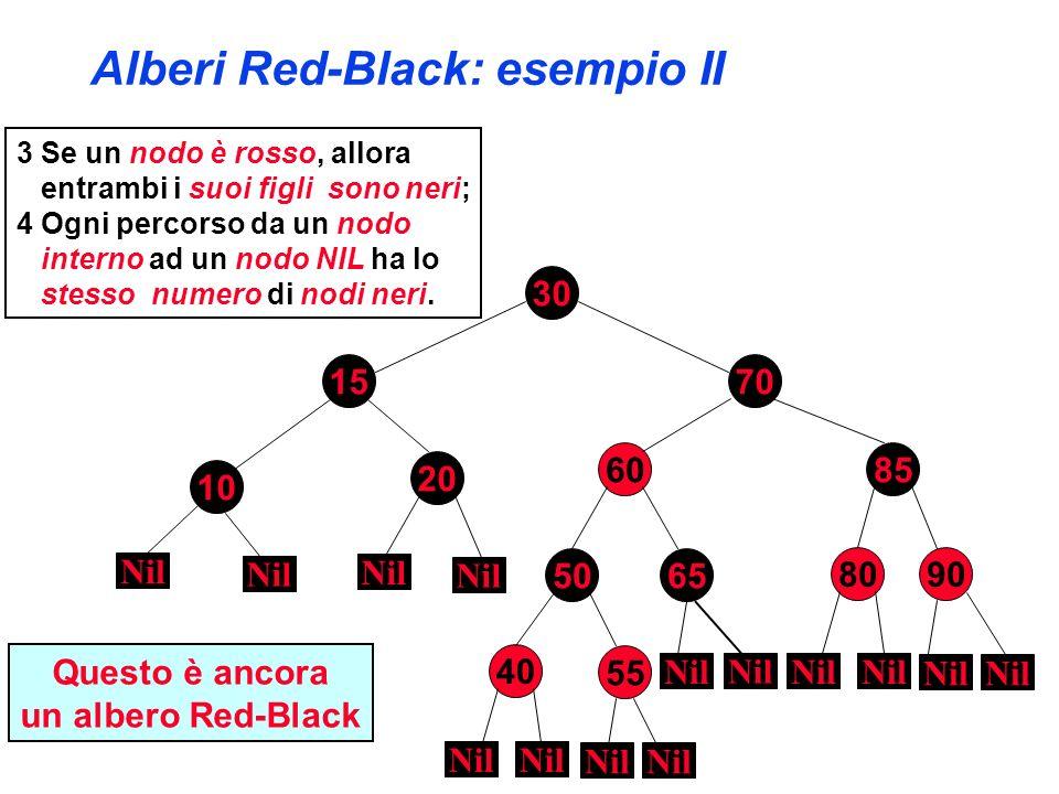 Alberi Red-Black: esempio II