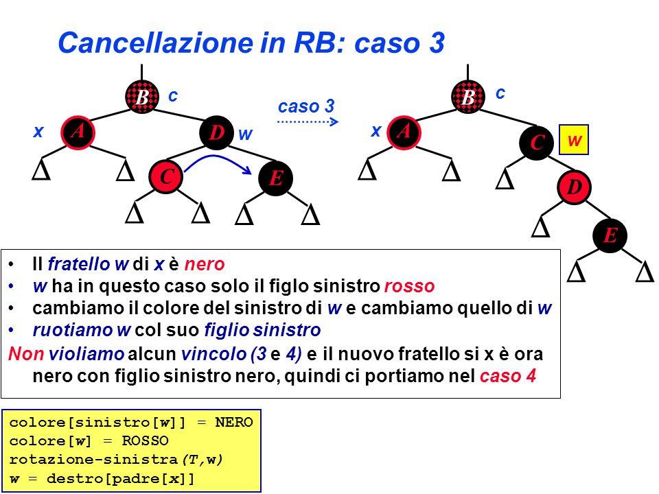 Cancellazione in RB: caso 3