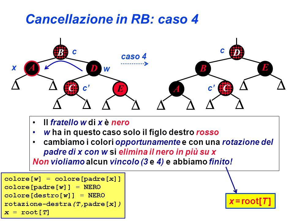 Cancellazione in RB: caso 4