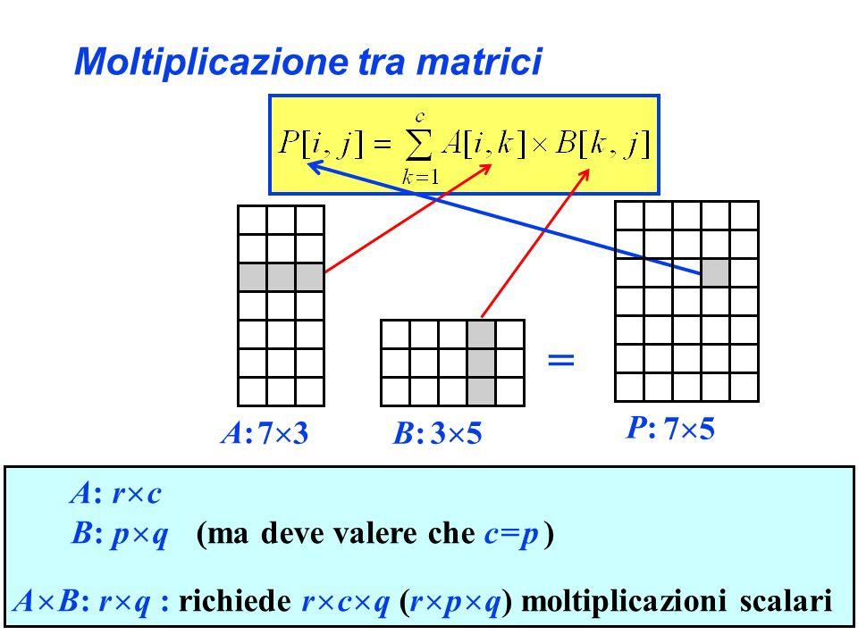 Moltiplicazione tra matrici