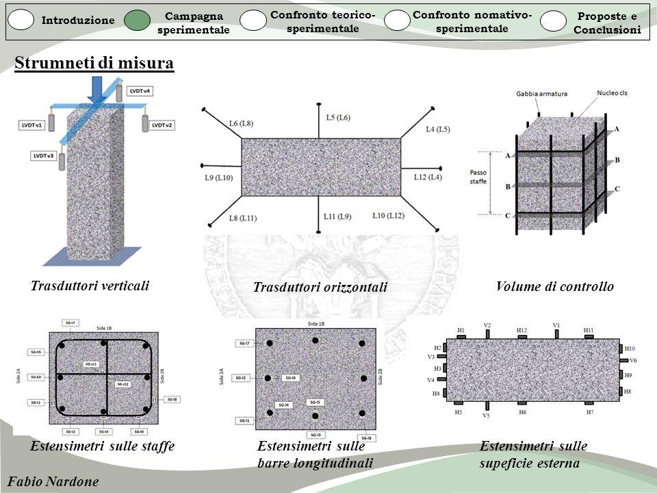 Strumneti di misura Trasduttori verticali Trasduttori orizzontali