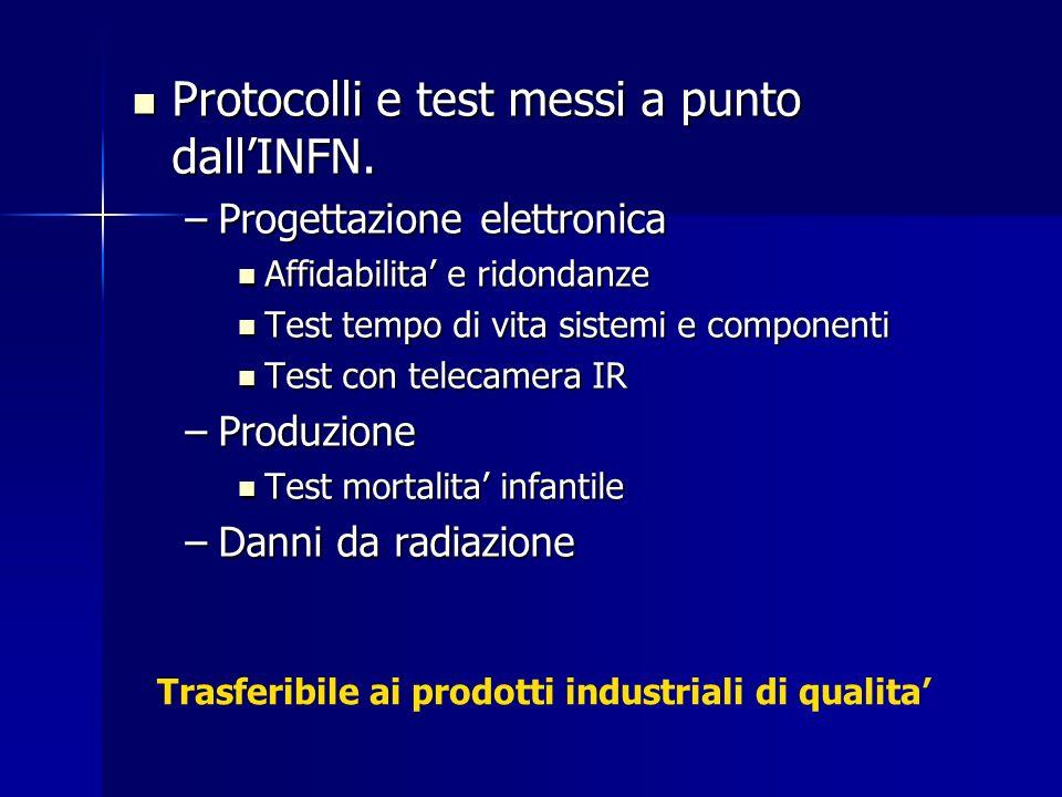 Protocolli e test messi a punto dall'INFN.
