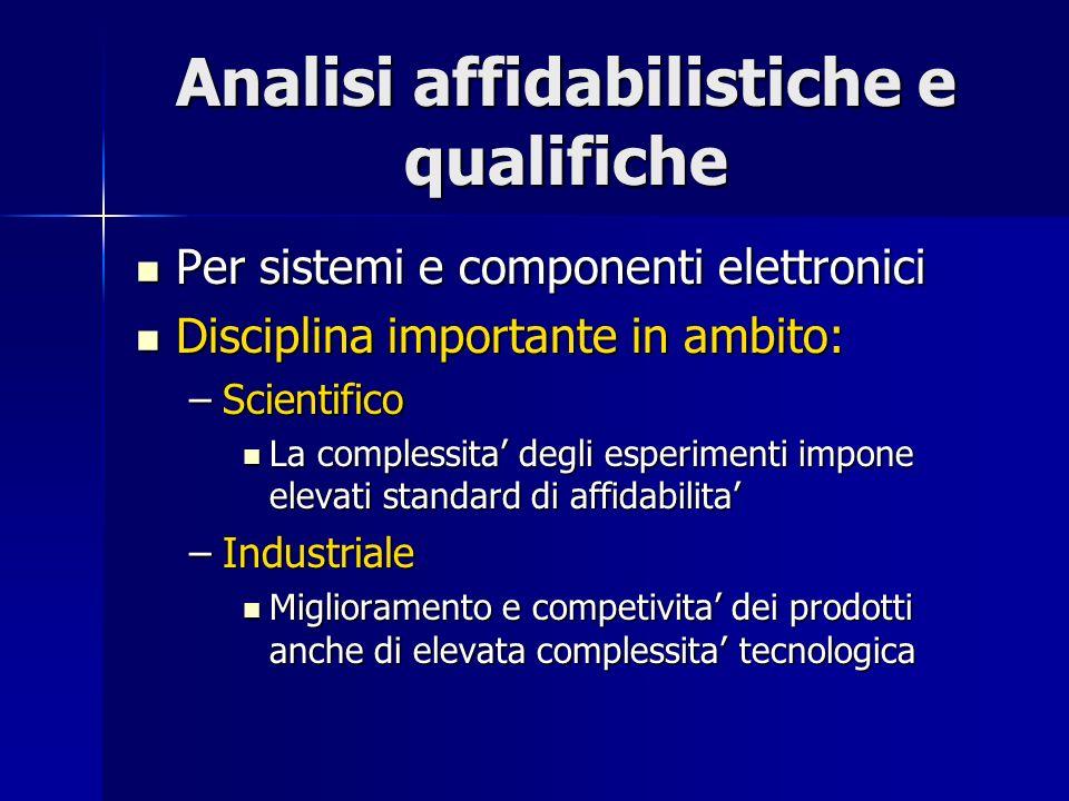Analisi affidabilistiche e qualifiche
