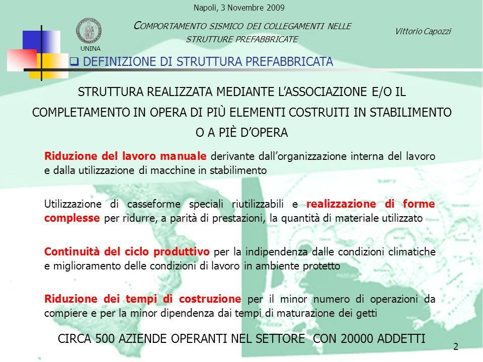 DEFINIZIONE DI STRUTTURA PREFABBRICATA