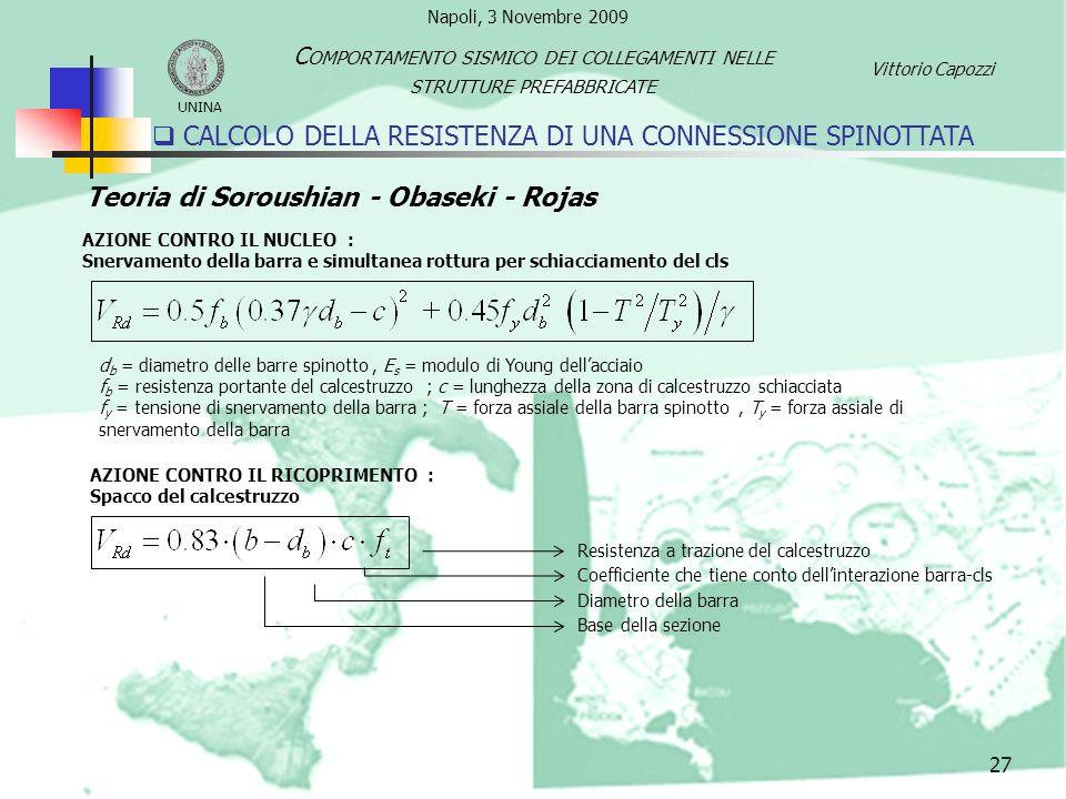 CALCOLO DELLA RESISTENZA DI UNA CONNESSIONE SPINOTTATA