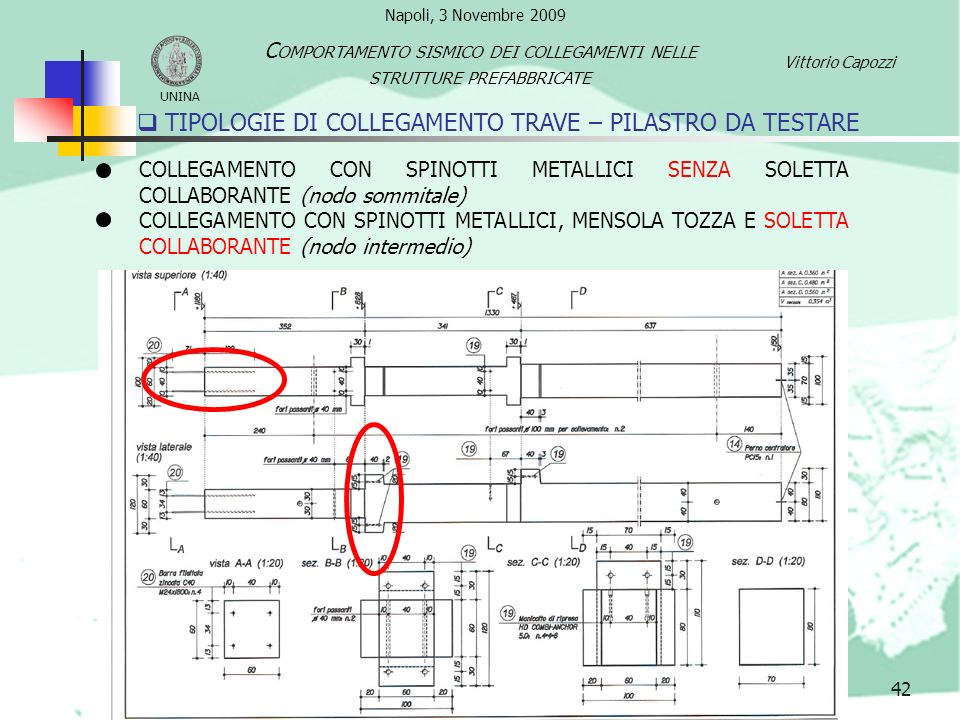 TIPOLOGIE DI COLLEGAMENTO TRAVE – PILASTRO DA TESTARE