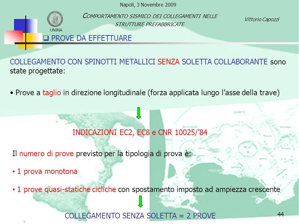 INDICAZIONI EC2, EC8 e CNR 10025/'84