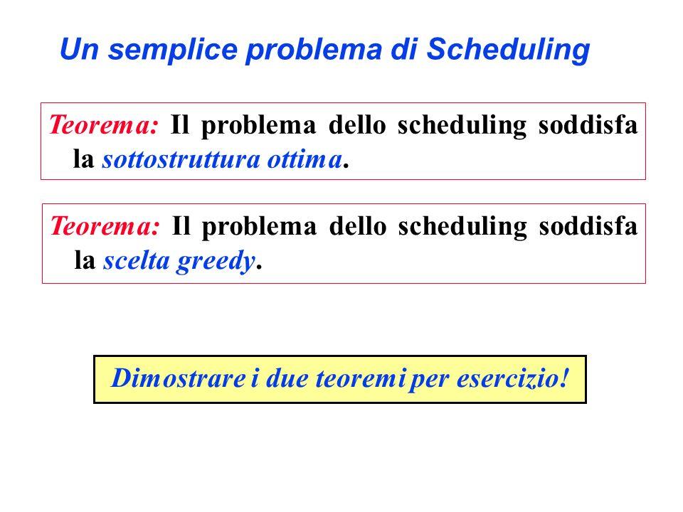 Un semplice problema di Scheduling