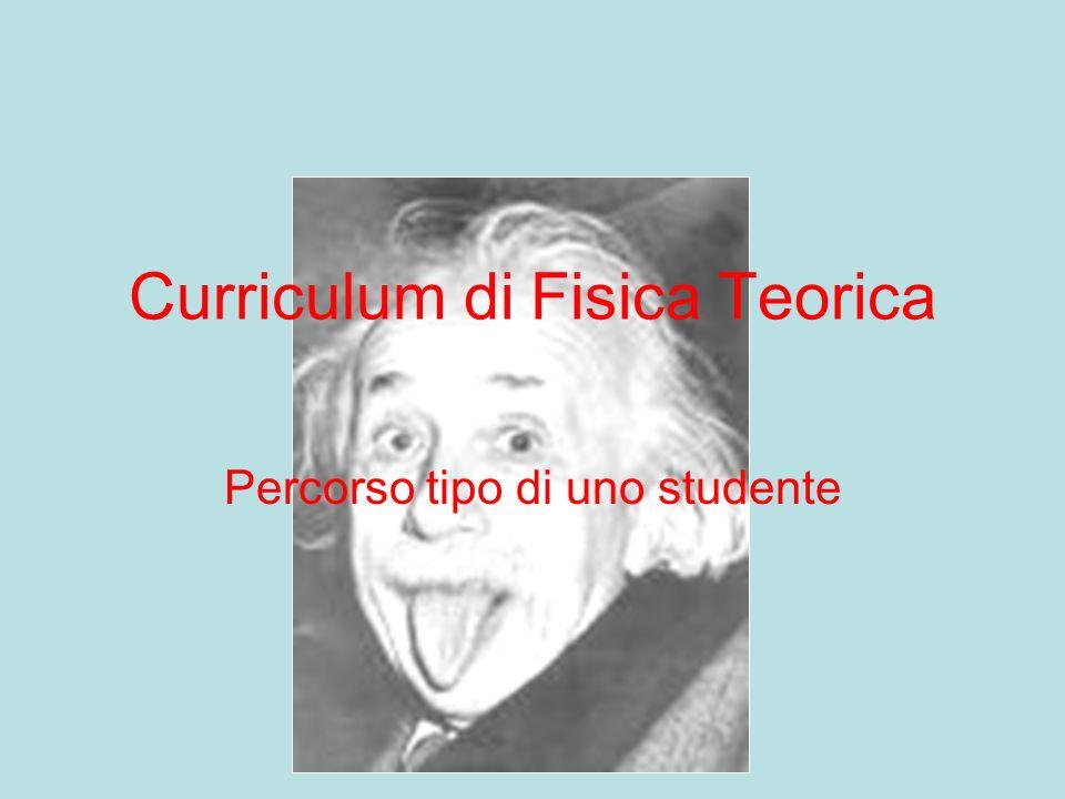 Curriculum di Fisica Teorica