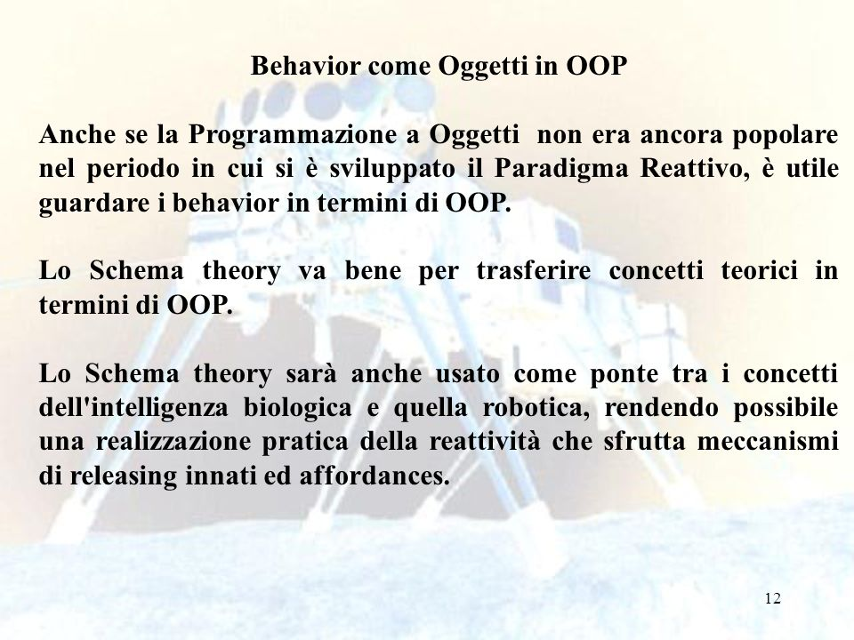 Behavior come Oggetti in OOP