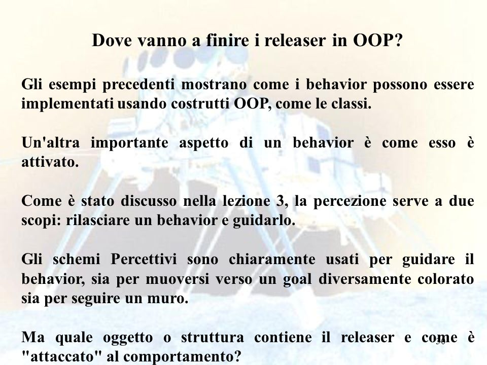 Dove vanno a finire i releaser in OOP