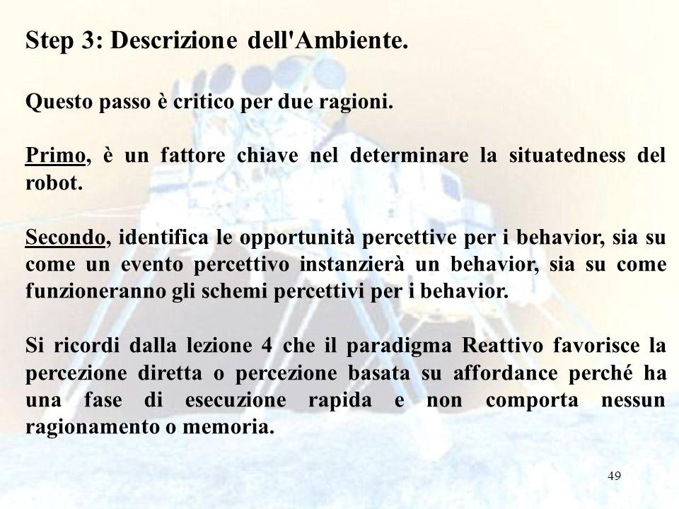 Step 3: Descrizione dell Ambiente.