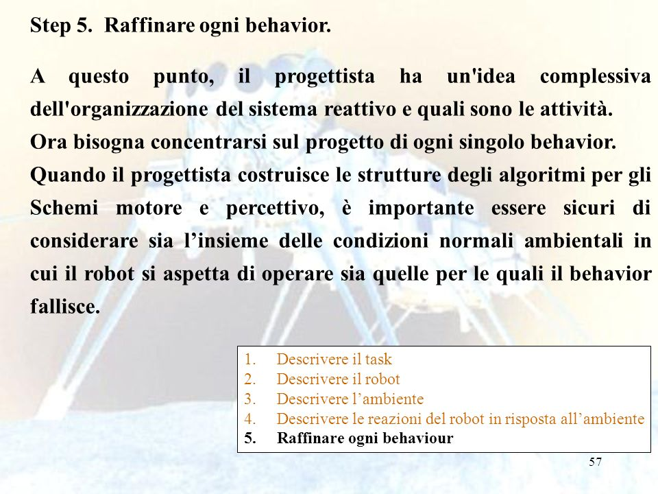 Step 5. Raffinare ogni behavior.