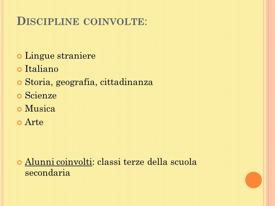 Discipline coinvolte: