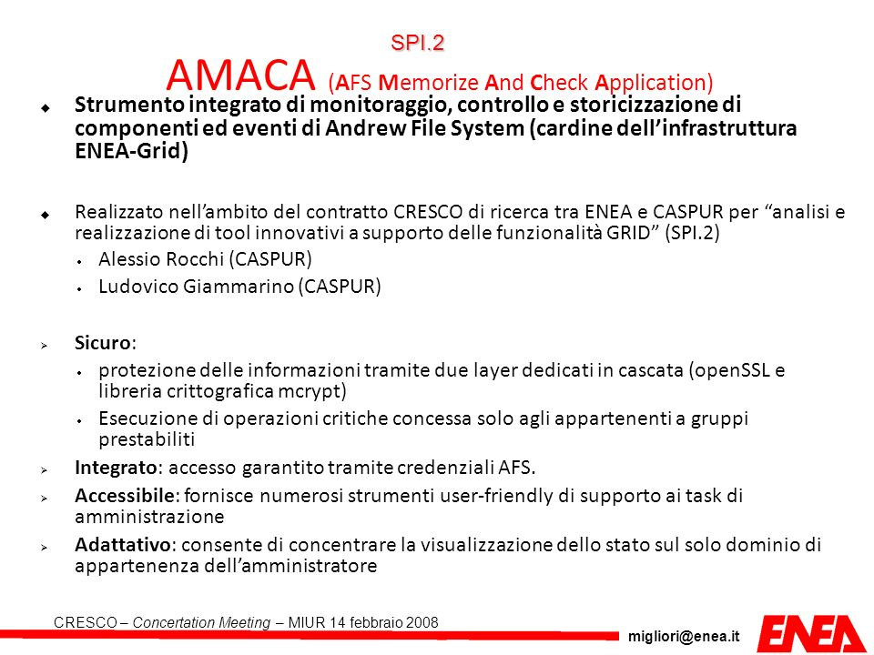 AMACA (AFS Memorize And Check Application)‏