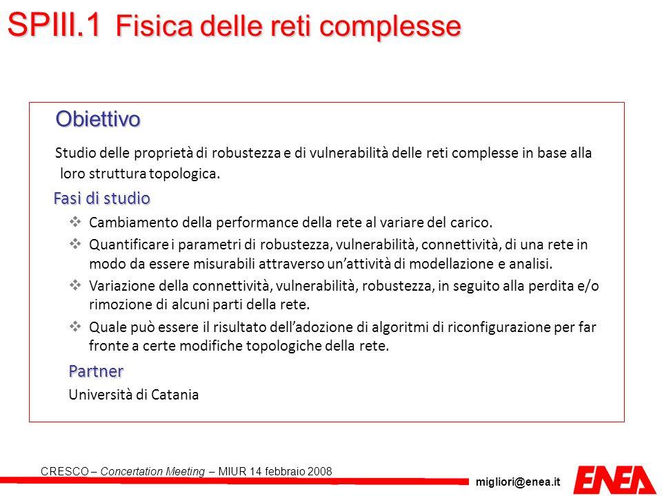 SPIII.1 Fisica delle reti complesse