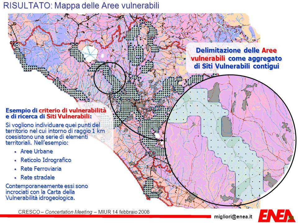 RISULTATO: Mappa delle Aree vulnerabili