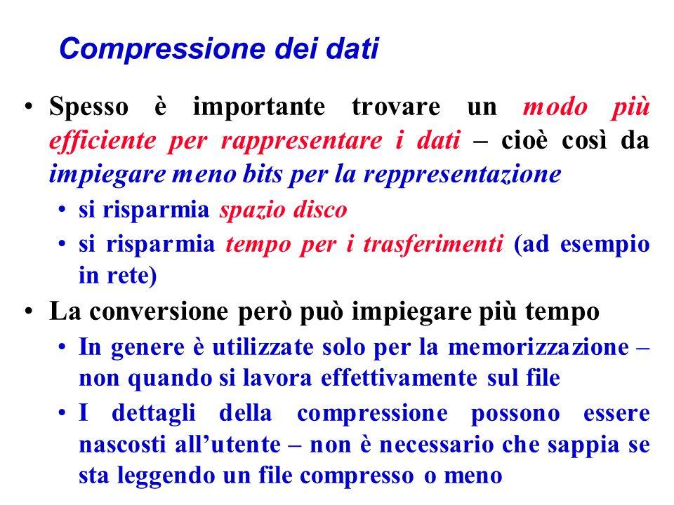 Compressione dei dati