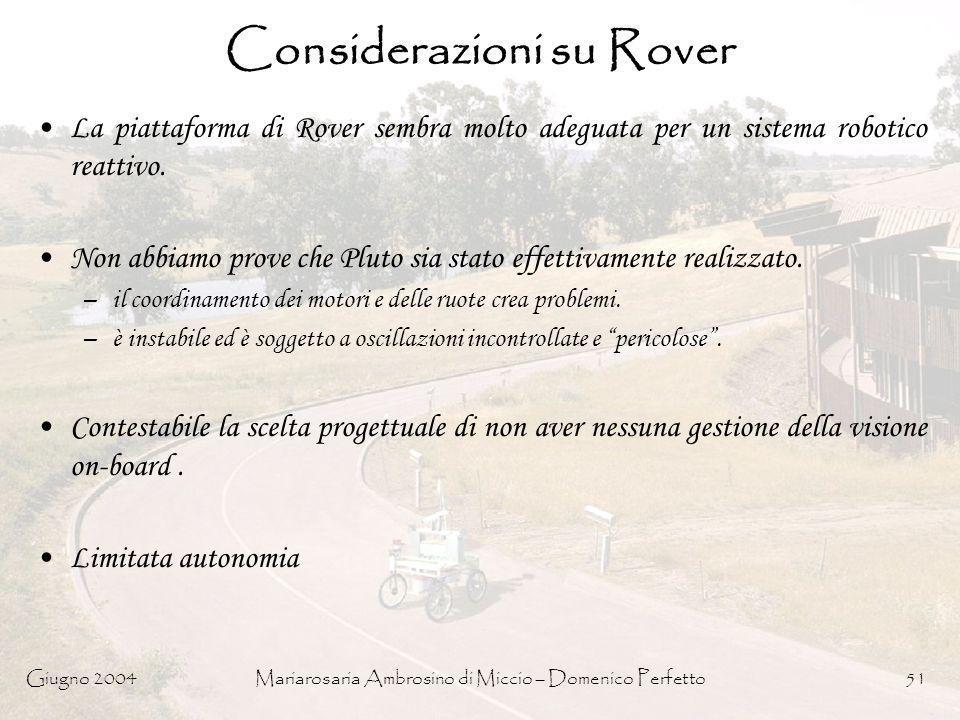 Considerazioni su Rover