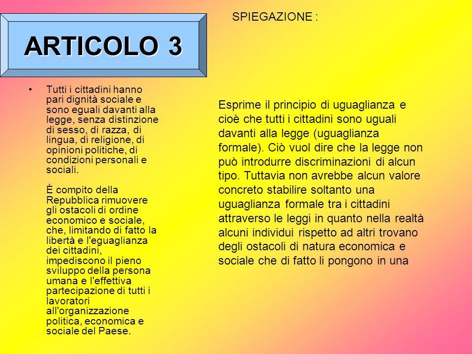 ARTICOLO 3 SPIEGAZIONE :
