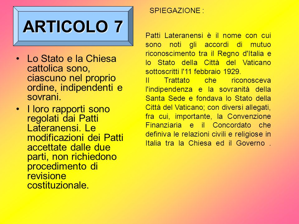 ARTICOLO 7SPIEGAZIONE :