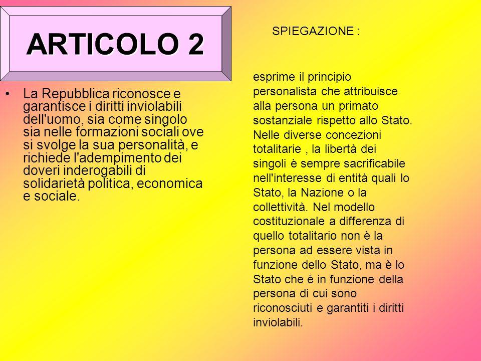 ARTICOLO 2SPIEGAZIONE :