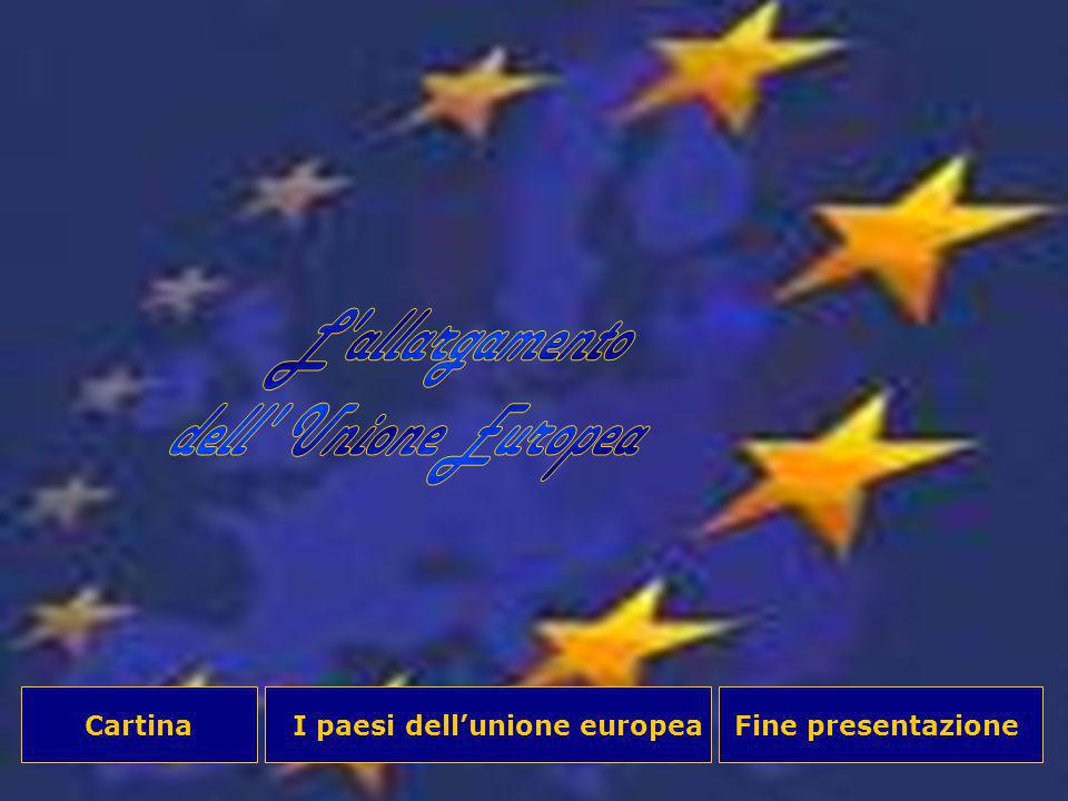 L allargamento dell Unione Europea Cartina