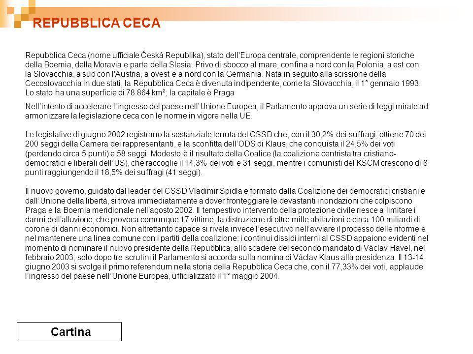 REPUBBLICA CECA Cartina