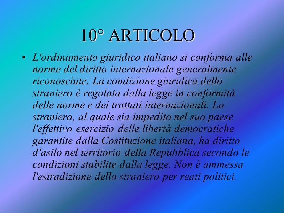 10° ARTICOLO