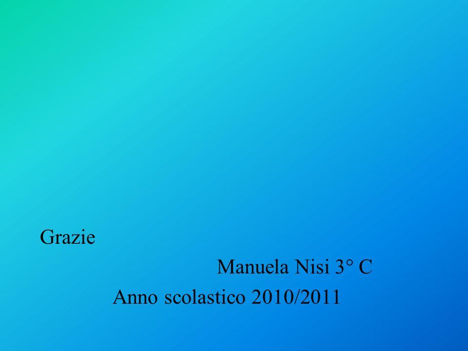 Grazie Manuela Nisi 3° C Anno scolastico 2010/2011