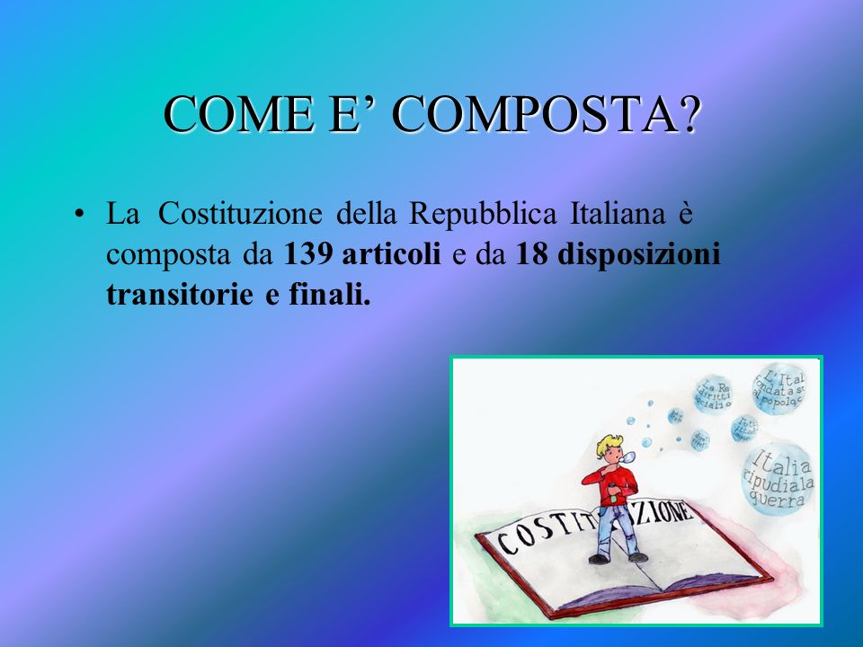 COME E' COMPOSTA.