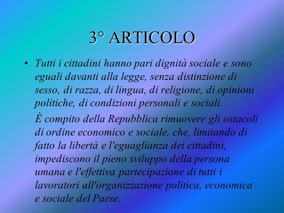 3° ARTICOLO