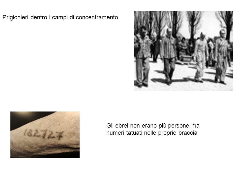 Prigionieri dentro i campi di concentramento