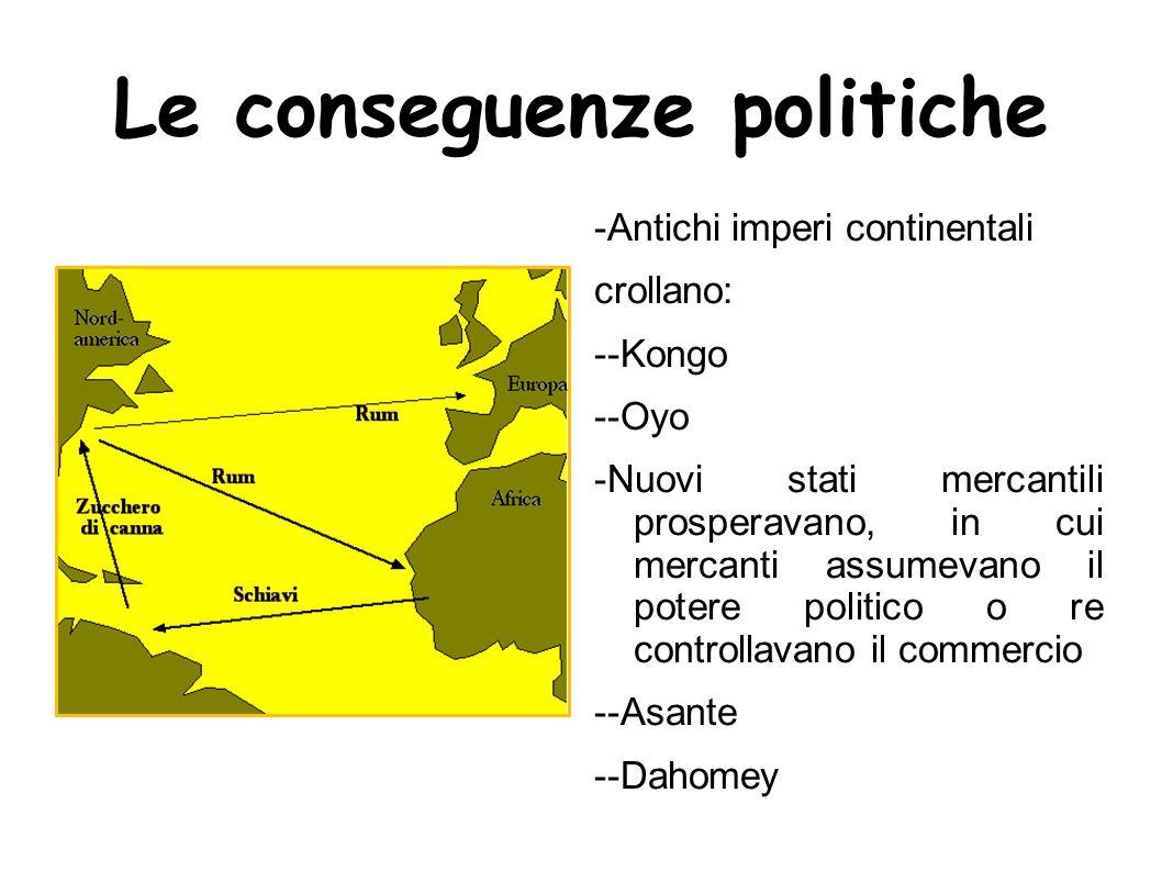 Le conseguenze politiche