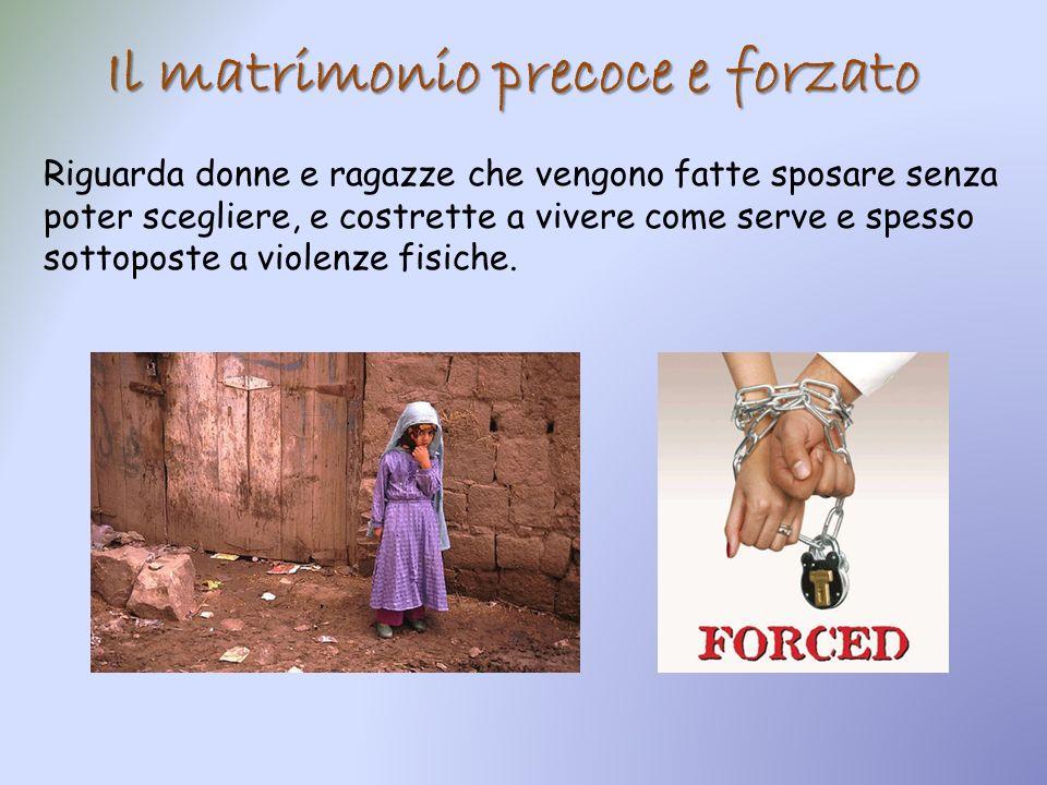 Il matrimonio precoce e forzato