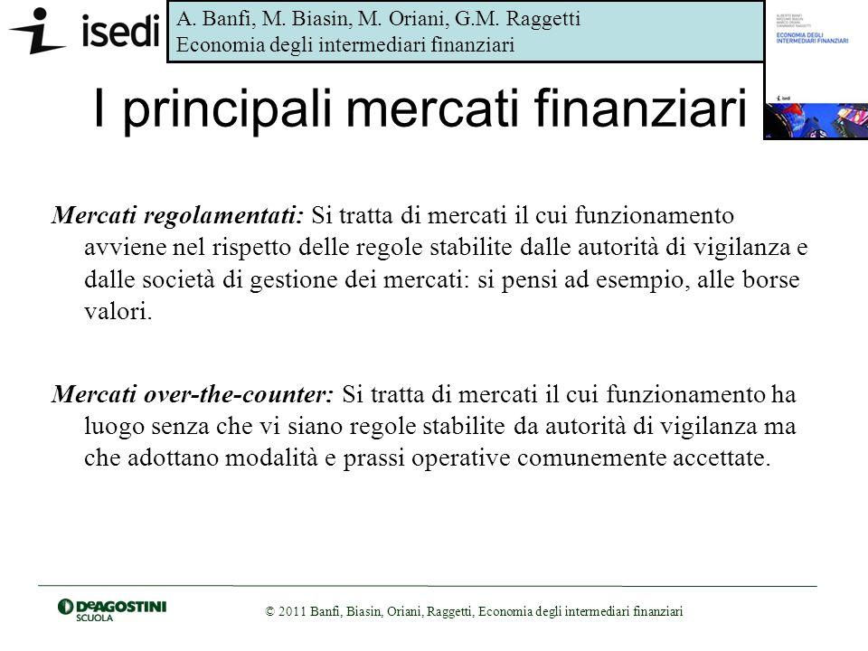 I principali mercati finanziari