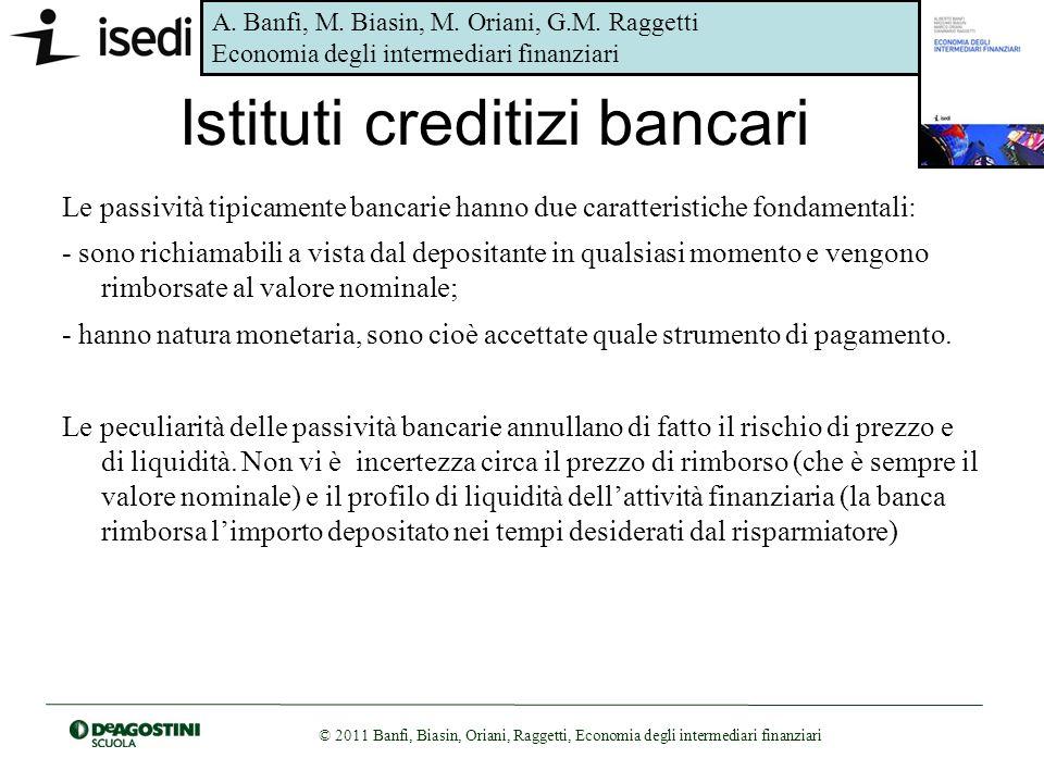 Istituti creditizi bancari