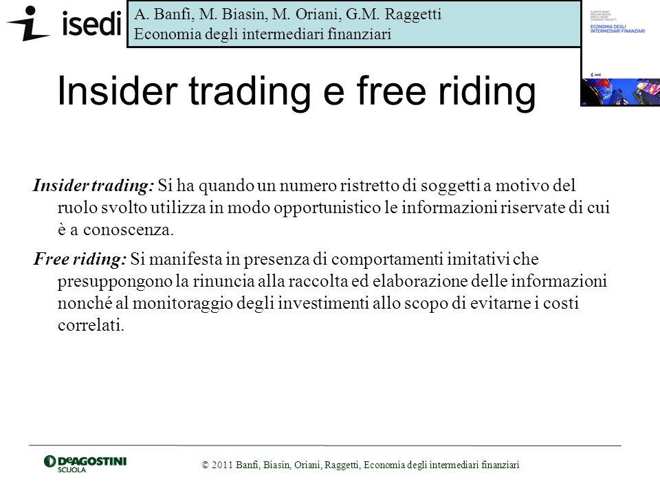 Insider trading e free riding