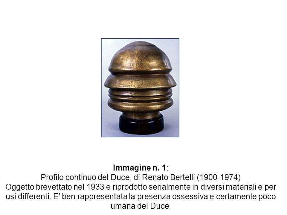 Profilo continuo del Duce, di Renato Bertelli (1900-1974)